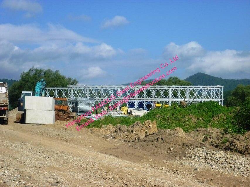 Prefabricated Steel Bailey Bridge Modular Designed Temporary Emergency Mabey Panel Bridges Galvanized