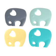 Silicone Elephant Baby Teether Infant Chewable Teething Toy Safe Baby Pendant Teether Chew Toy