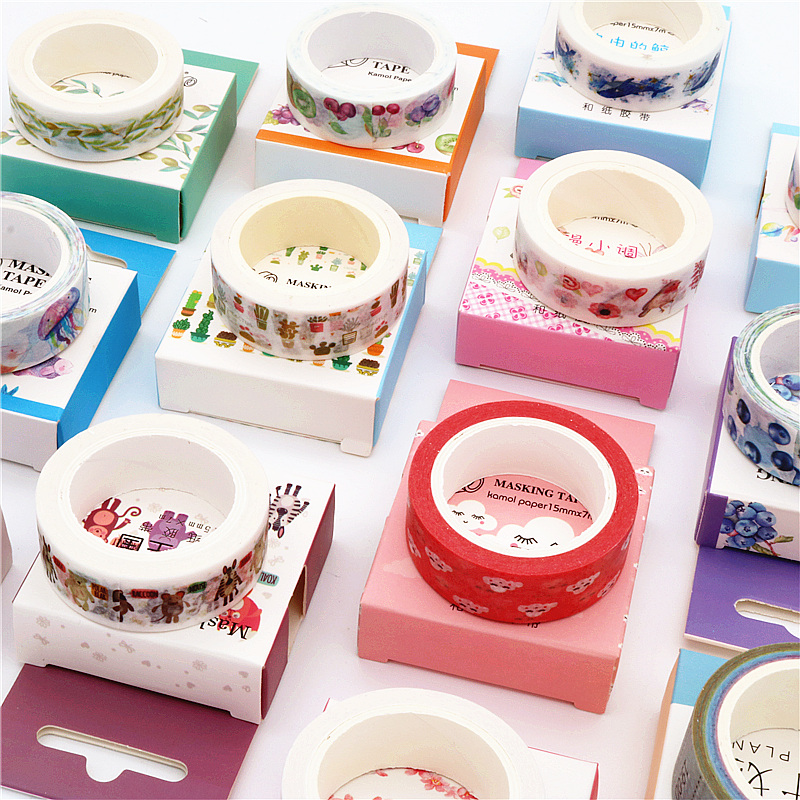 Cute Kawaii Plants Flowers  Washi Tape Animal Grass Masking Tape Decorative Adhesive Tape