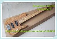 China guitars custom shop 6 cordas fodera baixo pescoço através com maple fingerboard para venda