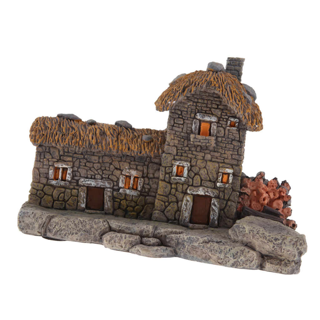 Micro Landscape Small Resin Cottage House DIY Fairy Garden Decor Lawn Ornaments