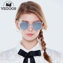 200aa41c8c8ec VEGOOS Polarizada Mulheres Óculos De Sol Espelhado Lente do Flash Do  Vintage Designer de Marca Real Orignal Retro Rodada Óculos .