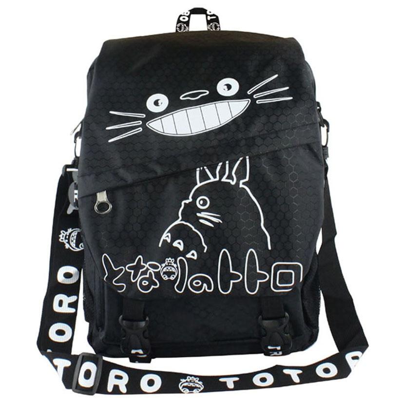 2017 Hayao Miyazaki Totoro Bag Anime Backpack School Bags Oxford Book Bookbag Teenagers My Neighbour Totoro Printed
