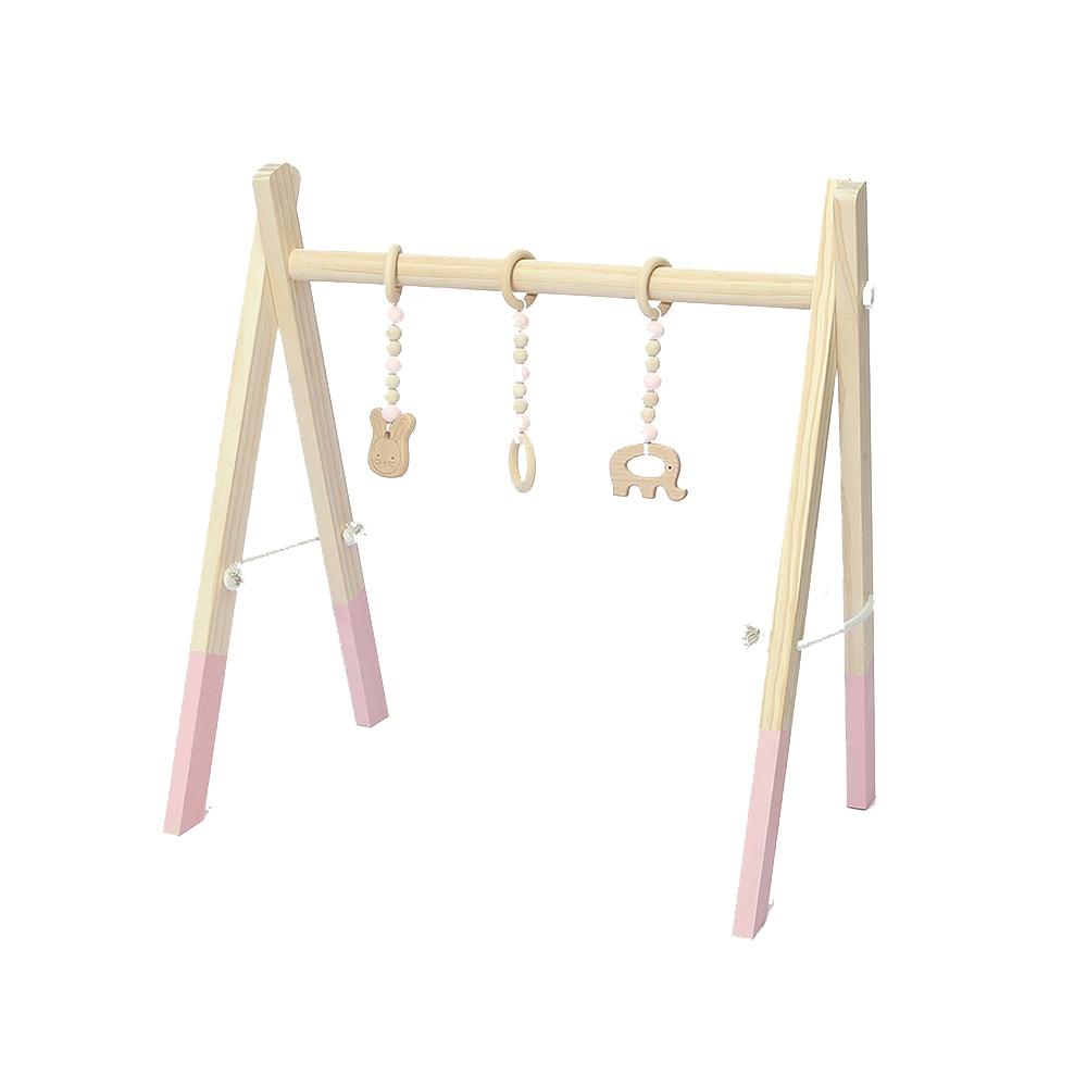 Bébé chambre décor jouer Gym jouet en bois infantile sensoriel jouet bébé chambre vêtements Rack photographie accessoires 0-12 mois hochets jouets