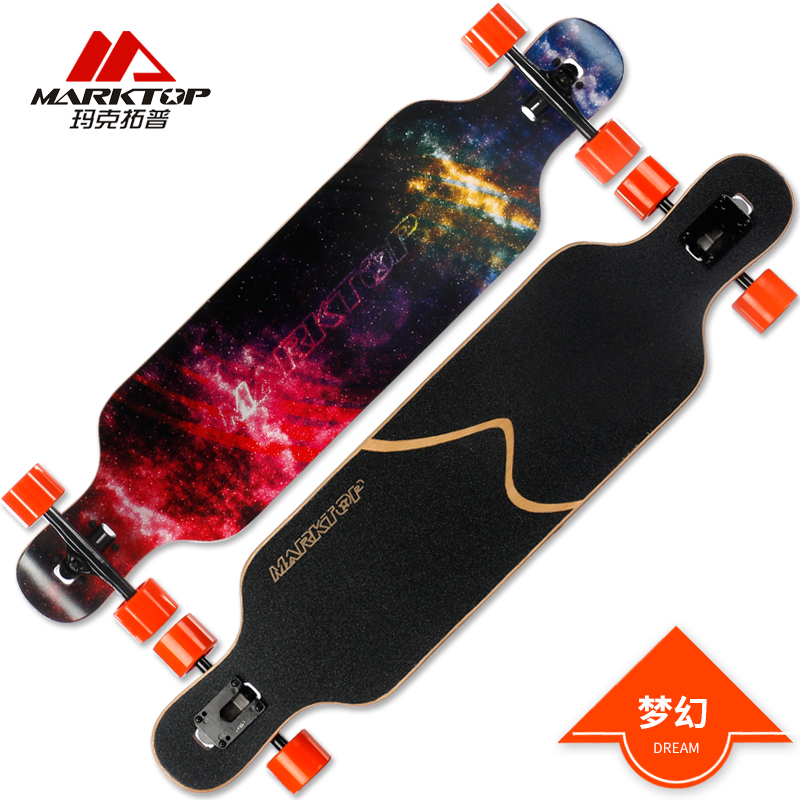 MARKTOP Professional Complete Longboard Skateboard 41x9.25 8 layers Canadian Maple Four Wheels Cruiser Street Deck Skate Board new arrival graphics skateboard decks with 7 875 8 8 125 8 25 made by canadian maple us skateboarding deck for skaters