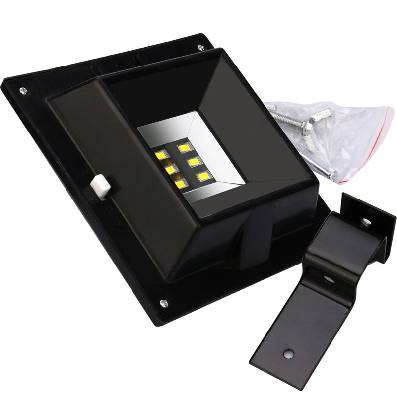 Waterproof 6 LED Solar Light Solar Power LED Garden Light Outdoor Pathway Sense Solar Lamp Wall Light Lamb