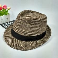 2019 Winter Fashion Hat men autumn and winter woolen jazz hat British small wild Formal wear