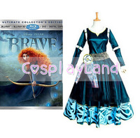 Merida Princess Dress The Brave Legend Cosplay Costume Dress for Women Halloween Party Cosplay Costume