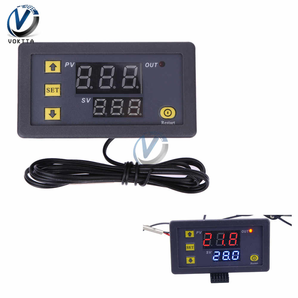 W3230 DC 12V 24V 20A AC 110-220V LED Digital Display Temperature Incubator Controller Thermostat Termometer switch Sensor Meter