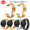 Watch Bands For Garmin Fenix 5 Classic Stainless Steel Metal Strap Replacement Wrist Band Quick Release