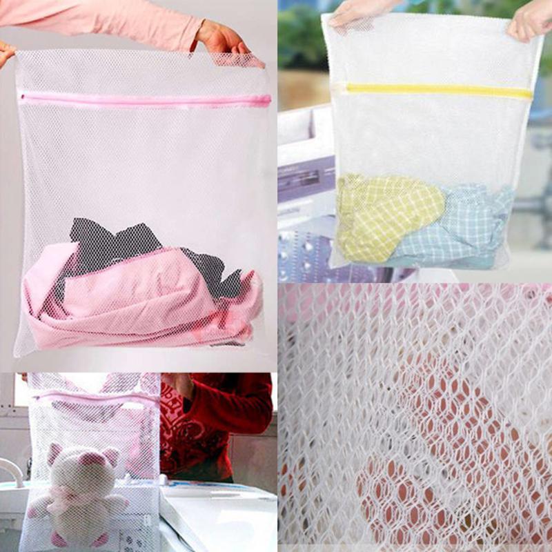 Clothes Washing Machine Zippered Foldable Nylon Laundry Bag Bra Socks Underwear Clothes Washing Machine Protection Net Mesh Bags