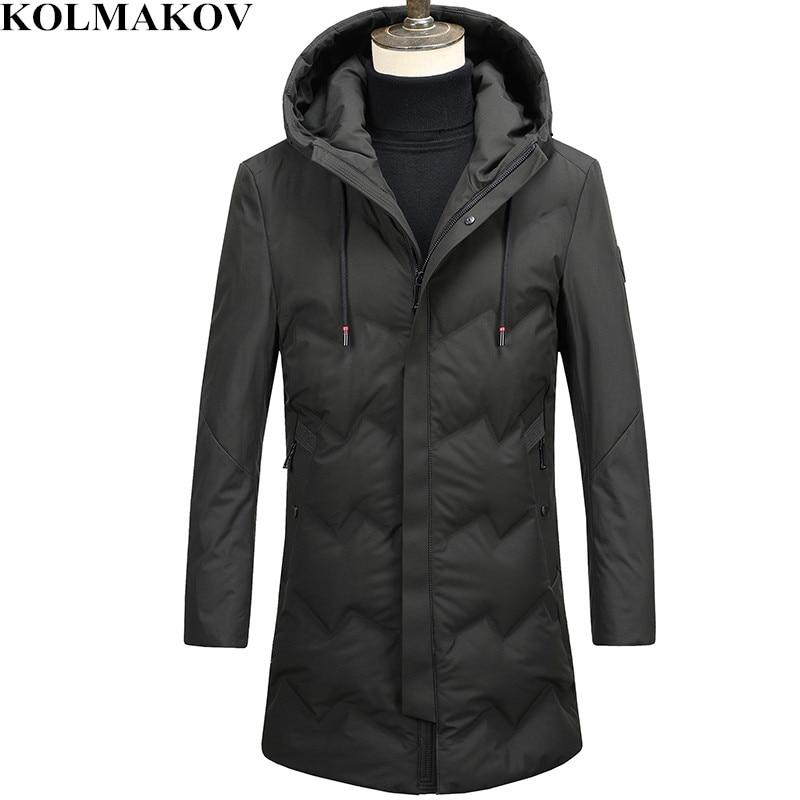 KOLMAKOV 2018 New 90% White Duck   Down     Coats   for Tall Men Winter Thicken Mens Long Parkas M-3XL Top Quality Warm Overcoats Man