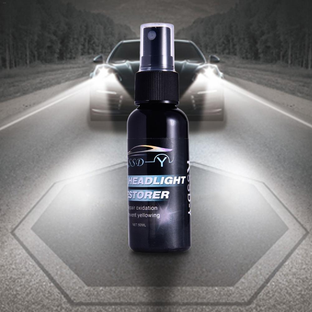 Cacoonlisteo 50 ml coche faro agente de reparación revestimiento coche estilismo Auto faro renovación reparación líquido