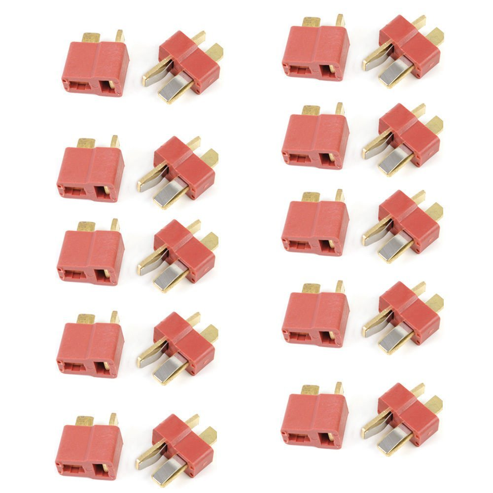 HOBBYMATE 10 Pairs T Plug Connectors Male Female Deans Style For RC LiPo Battery Pack ESC