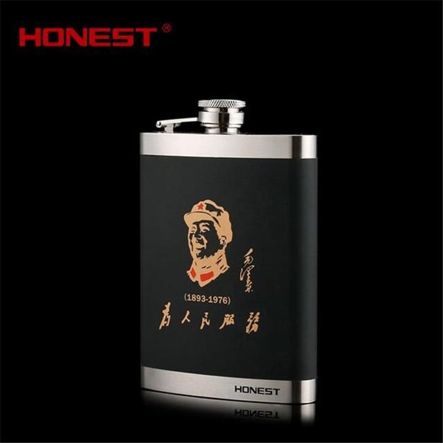 Honest BC8MZD 8 OZ Hip Flasks Chairman Mao Stainless Steel 304 Flask Set Zedong Mao Liqur Whiskey Wine Pot Flagon hip flask