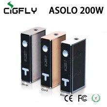 Original Electronic Cigarette Mod IJOY Asolo 200W TC Mod 5-200W E Cigarette Mods 18650 Box Mod huge vape e cigarette