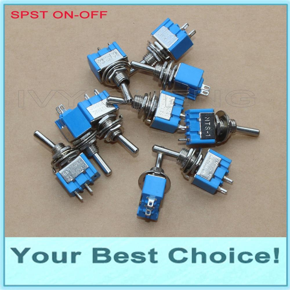 1000pcs Lot SPST ON OFF Miniature Rocker Toggle Switch 3A 250VAC 6A 125VAC