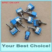 1000 шт./лот SPST 2 контактный миниатюрный тумблер вкл./выкл., 3A/250VAC,6A/125VAC