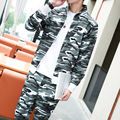 top quality fashion men  tracksuit camouflage military hoodies sweatshirts set M-5XL CYG78