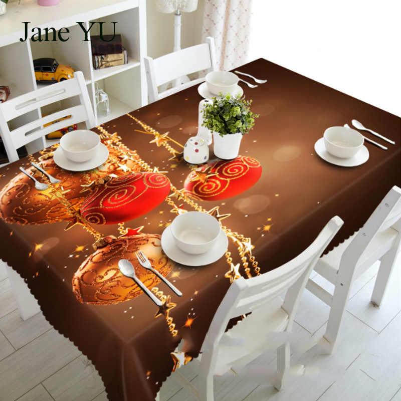 Ramos de Pinheiro JaneYU dust-proof da fruta do Natal toalha de mesa toalha de mesa pano de cabeceira 3D mat proteção ambiental insípido