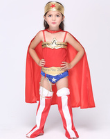 New Wonder Woman Baby Girls Halloween Cosplay Costumes Kids Clothing Set Children Superman Halloween Masquerade Party