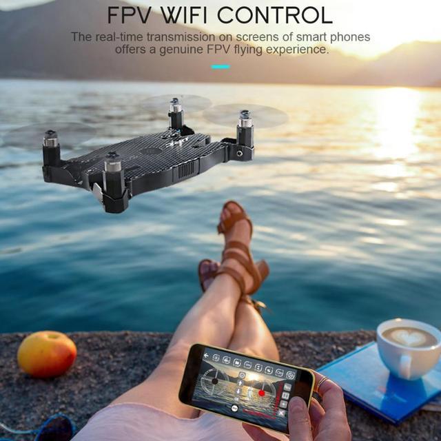 White Black JJRC H49 Wifi FPV 720P HD Camera Ultra-thin Foldable Mini Size Drone RC Simulators Toy Drop Shipping Remote Control 1