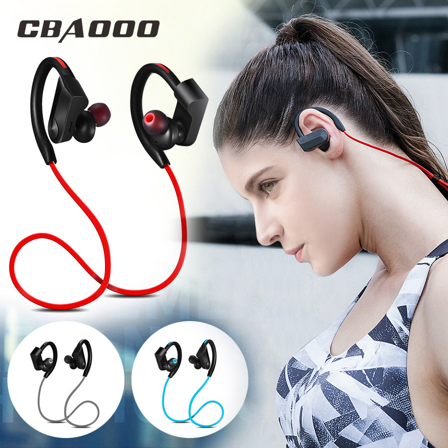 CBAOOO Sport Bluetooth Headphone Wireless Earphone Bluetooth Headset Waterproof noise reduction with Microphone for android ios in Bluetooth Earphones Headphones from Consumer Electronics