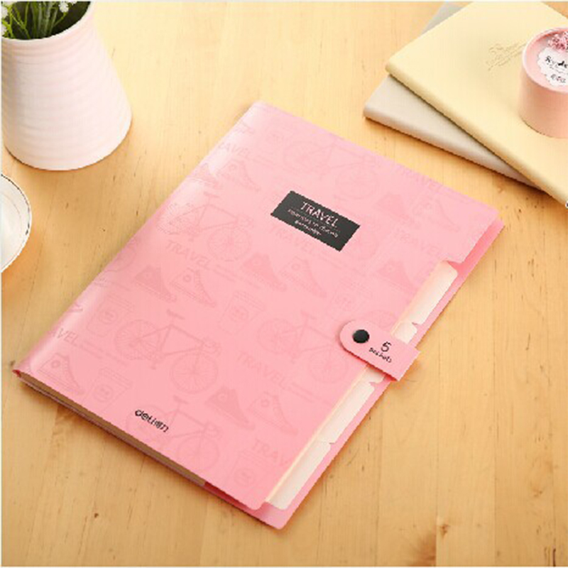 1pc Brand New Waterproof Book A4 Paper File Folder Bag Accordion Style Design Document Rectangle Office Home School Three Colors