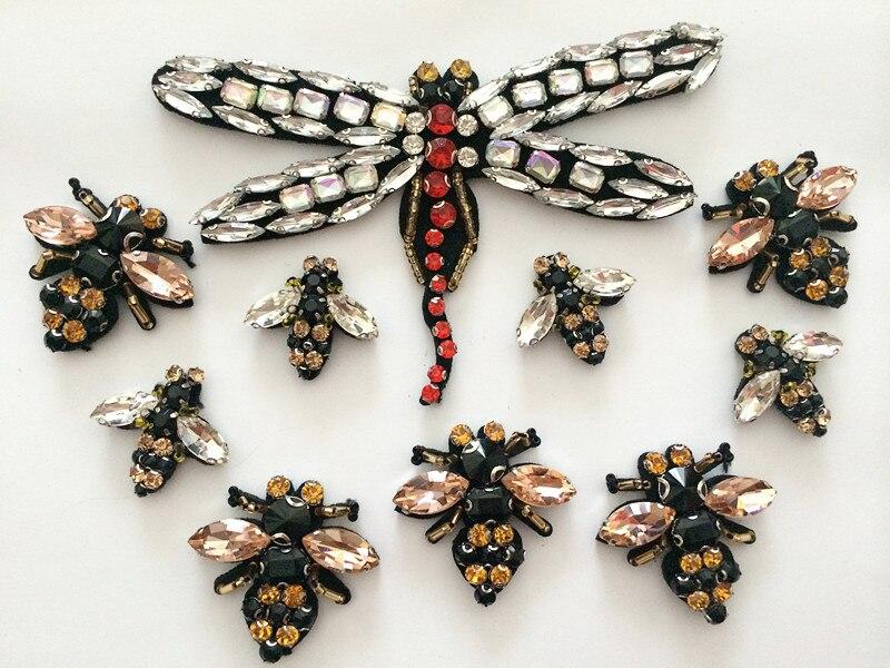 Venta al por menor 3D Crystal Rhinestone perla abeja y libélula - Artes, artesanía y costura