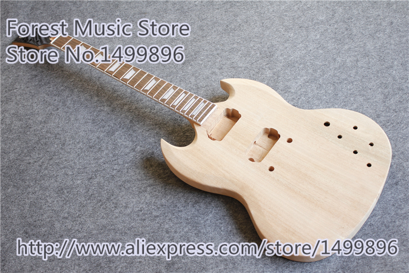 Hot Selling Mahogany SG Guitar Body & Neck Without Painting And Hardware Free Shipping hot selling chinese black lp custom electric guitar mahogany guitar body