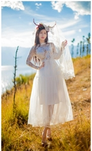 Hight quality high-end hand-made lace Sequins sexy women dresses elegance Mesh lady spring clothes