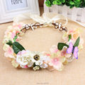 2016 simulation butterfly flower wreath headband women Rattan simulation flower head festival wedding kids flower crown