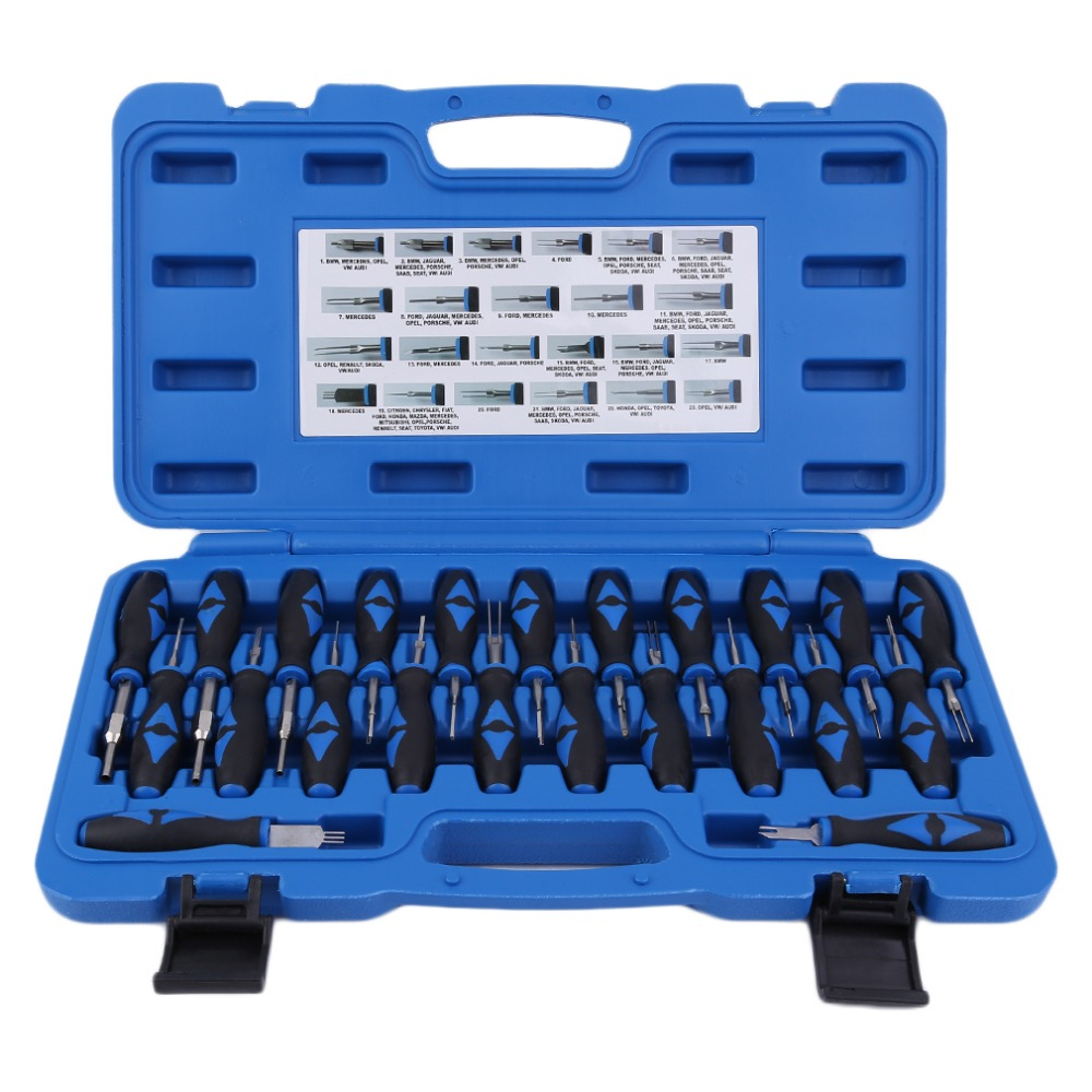 Newest 23pcs System Harness Terminal Release Tools Computer Terminal Connector Remover Car Release Dissemble Tool Set цена