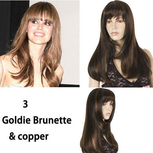 Long Face Framing 70\'s Hairstyle Wig   Face Framing Bangs   Goldie ...