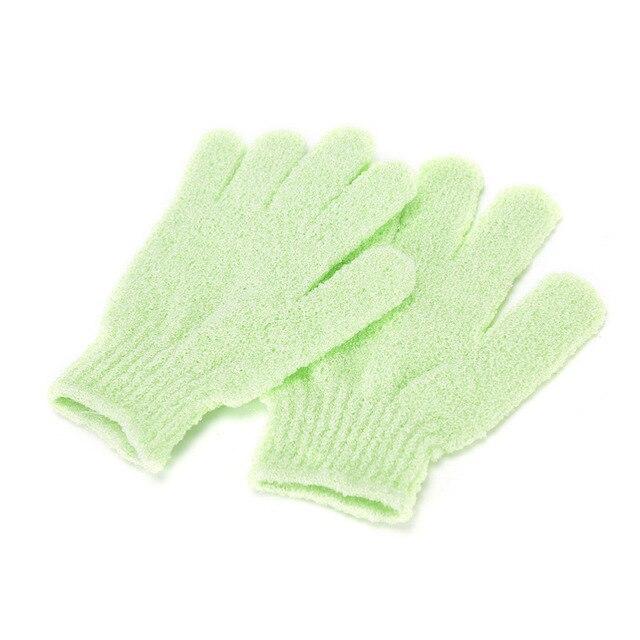 1 Pair Shower Bath Gloves Exfoliating Wash Skin Spa Massage Body Scrubber Cleaner rubbing bath gloves 5