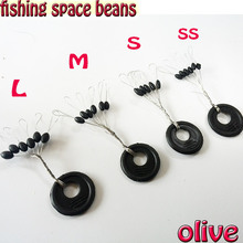600pcs/lot  fishing space beans accessories pesca tackle size SS/S/M/L fishing box tools  olive and cylindrical