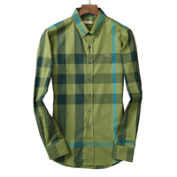 High Quality Plaid Shirt Men 2017 New Casual Long Sleeve Mens Shirts Loose Turn Down Collar