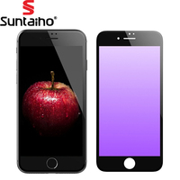 2017 Anti Purple Blue Ray Eye Protective 3D Full Curved Tempered Glass Screen Protector Film For