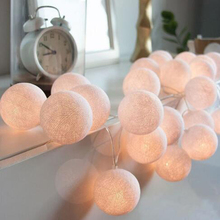 Cotton Ball led Light String Holiday lights Battery Powered Led String Light Fairy Light for Indoor Christmas Tree Decorations