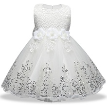 3fb747c29083 2019 summer infant Baby Girl Dress Lace white Baptism Dresses for Girls 1st  year birthday party