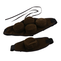 2 Pieces Adjustable Smokeless Moxibustion Waist Belt With Moxa Heat Pack Boxes Portable