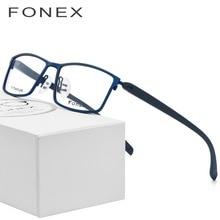 9c2f6ac0e41a5 TR90 Óculos De Titânio Quadro Homens Miopia Ultraleve Quadrados Óculos de  Prescrição Óculos Mulheres Frame Ótico Completo Mascul.