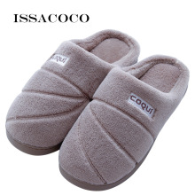 ISSACOCO Mans Slippers Cotton Men Warm Plush Winter Fur Lovers Soft Indoor Shoes With Home Pantuflas