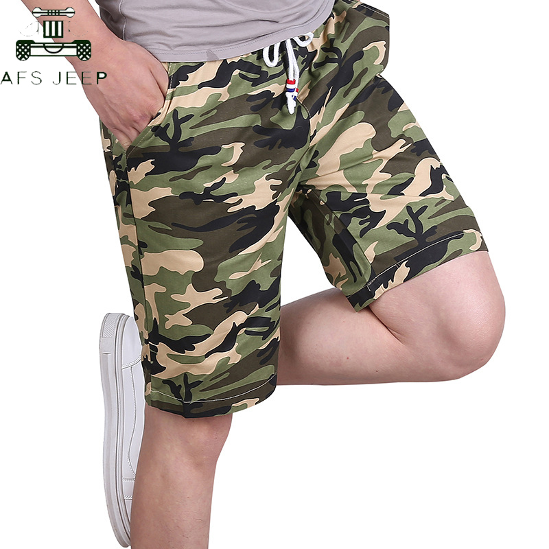 Plus Size M-6XL Camouflage Men's Shorts 2019 Military Cotton Streetwear Elastic Waist Causal Beach Short Homme Bermuda Masculina
