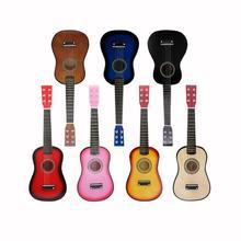 21/23 дюйма твердой древесины мини гитара для детей и Начинающих Акустическая гитара из липы 12 Лады 6 гитарных струн с выбирает AGT09