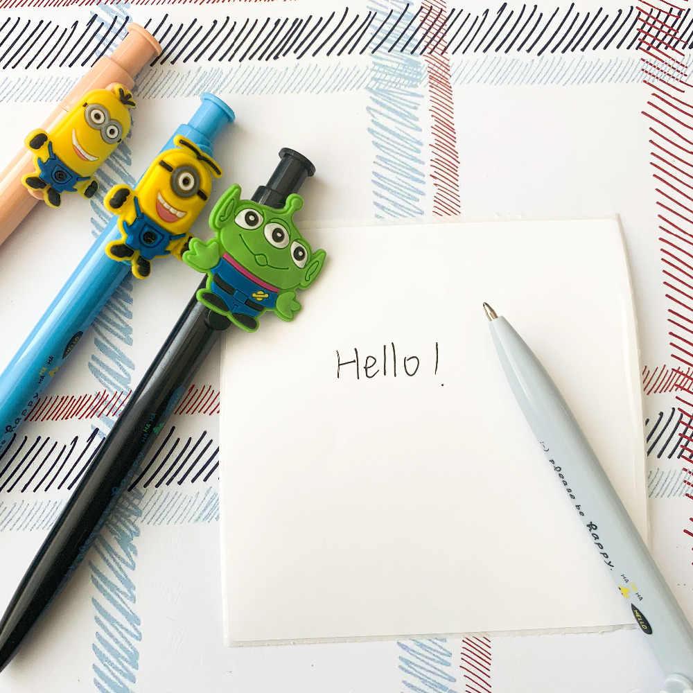 Lovely Little Green Man Asseclas Panda Imprensa Gel Caneta de Tinta Escrita Assinatura Caneta Escola Material de Escritório Papelaria Estudante Tinta Preta