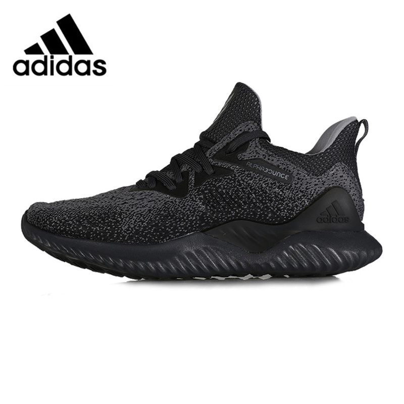 Adidas Alphabounce Sports Sneakers Breathable Running Shoes Black AQ0573 for Women 36-39 EUR Size W