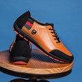Отличное Качество Натуральная Кожа Мужчины Квартиры Мода Большой Размер Мужчины Повседневная Обувь Осень Мужской Обуви Горячей Продажи Zapatos Chaussures