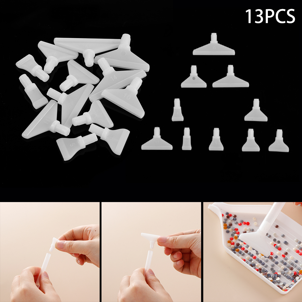 13pcs Replacement Pen Heads For 5D Diamond Painting Cross Embroidery Point Drill DIY Crafts Quick Cases Tool