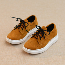 Fashion Girls Boys Shoes Lace Up Casual Children Sneakers 2016 New Solid Color Platform Kids Shoes